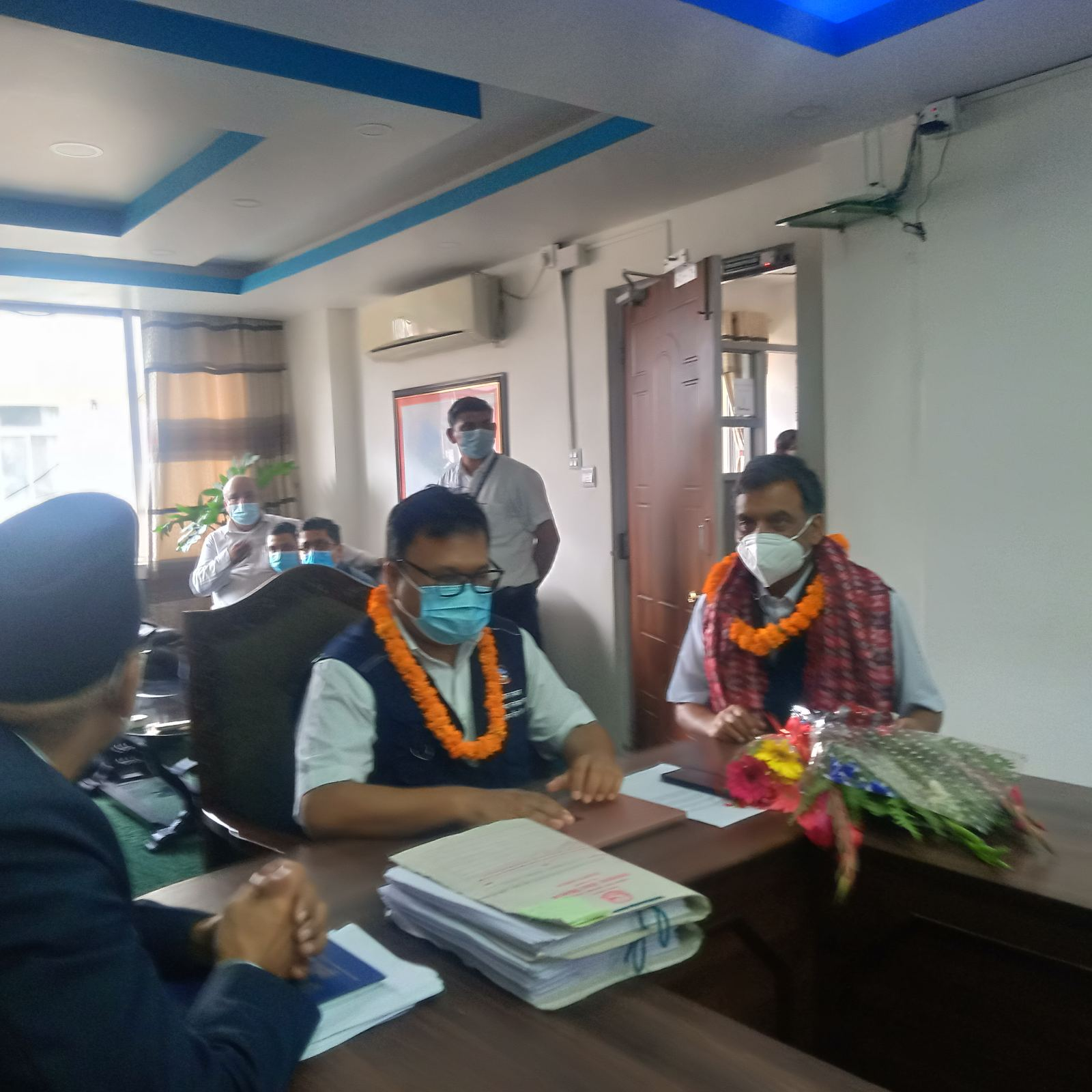 निवर्तमान महानिर्देशक डा. दीपेन्द्र रमन सिंहको बिदाइ र नव नियुक्त महानिर्देशक डा. आर पी बिच्छाको स्वागत कार्यक्रम
